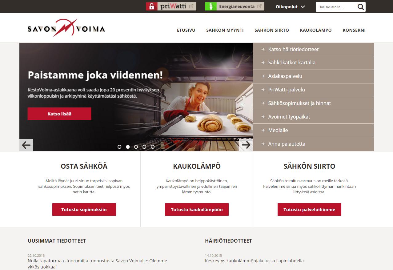 SavonVoima.fi-etusivu