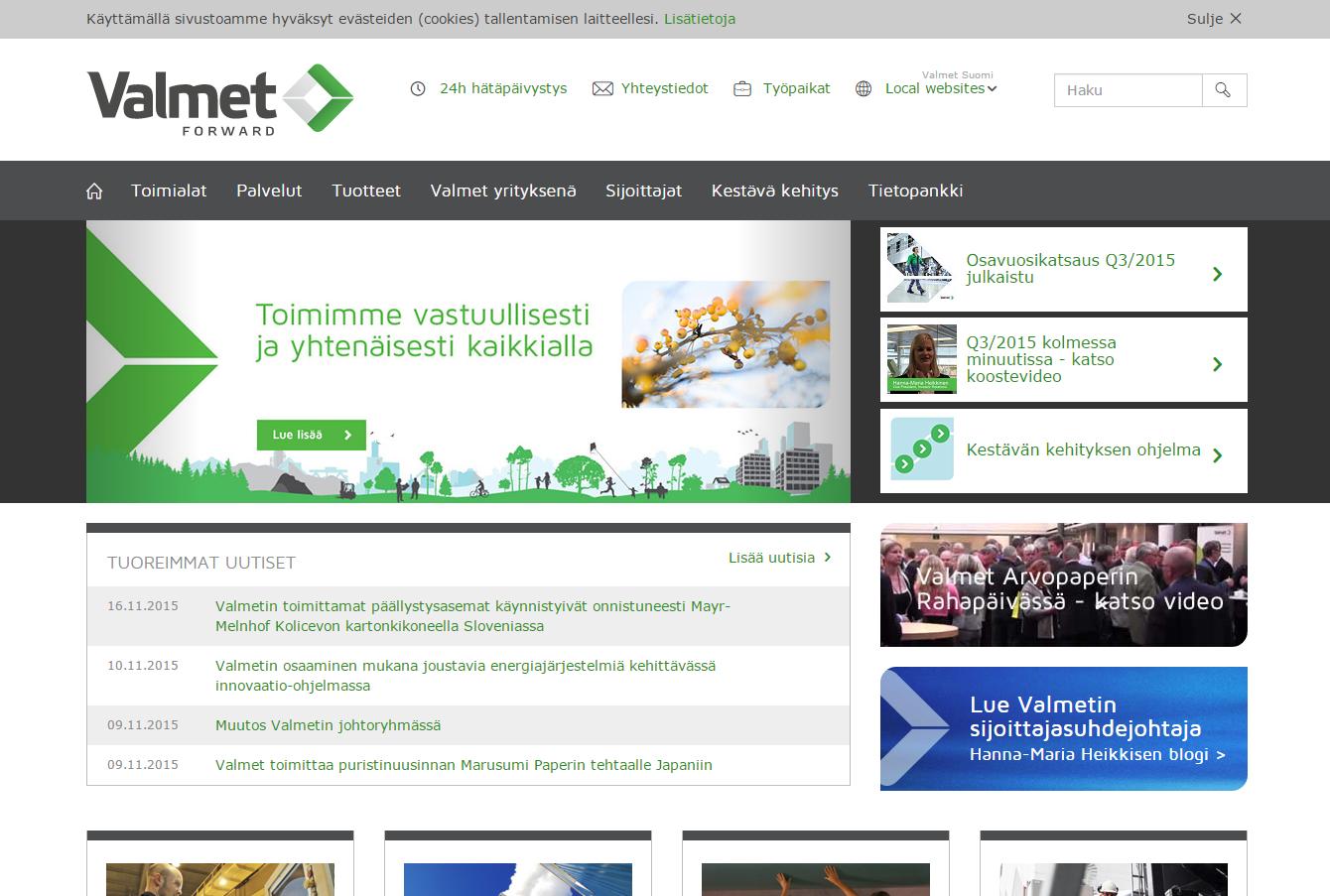 Etusivu Valmet.com