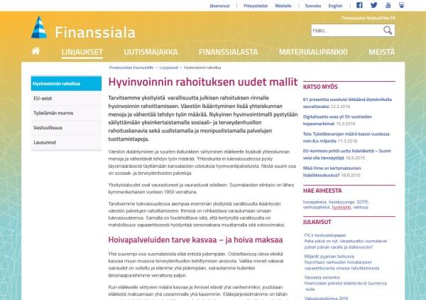 Case: Finanssiala.fi, Hyvinvointi