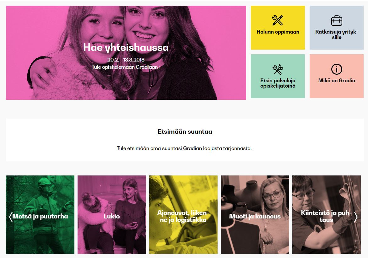 Gradia.fi etusivu